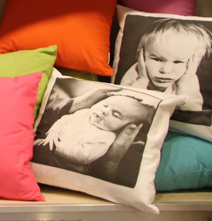 Custom Throw Pillows, Direct to Garment Printing at Make at Granville Island www.makevancouver.com