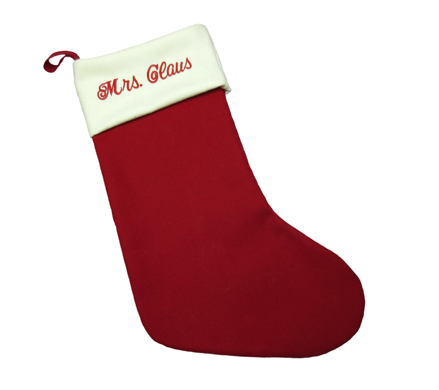 custom embroidered Christmas stockings from Make at Granville Island