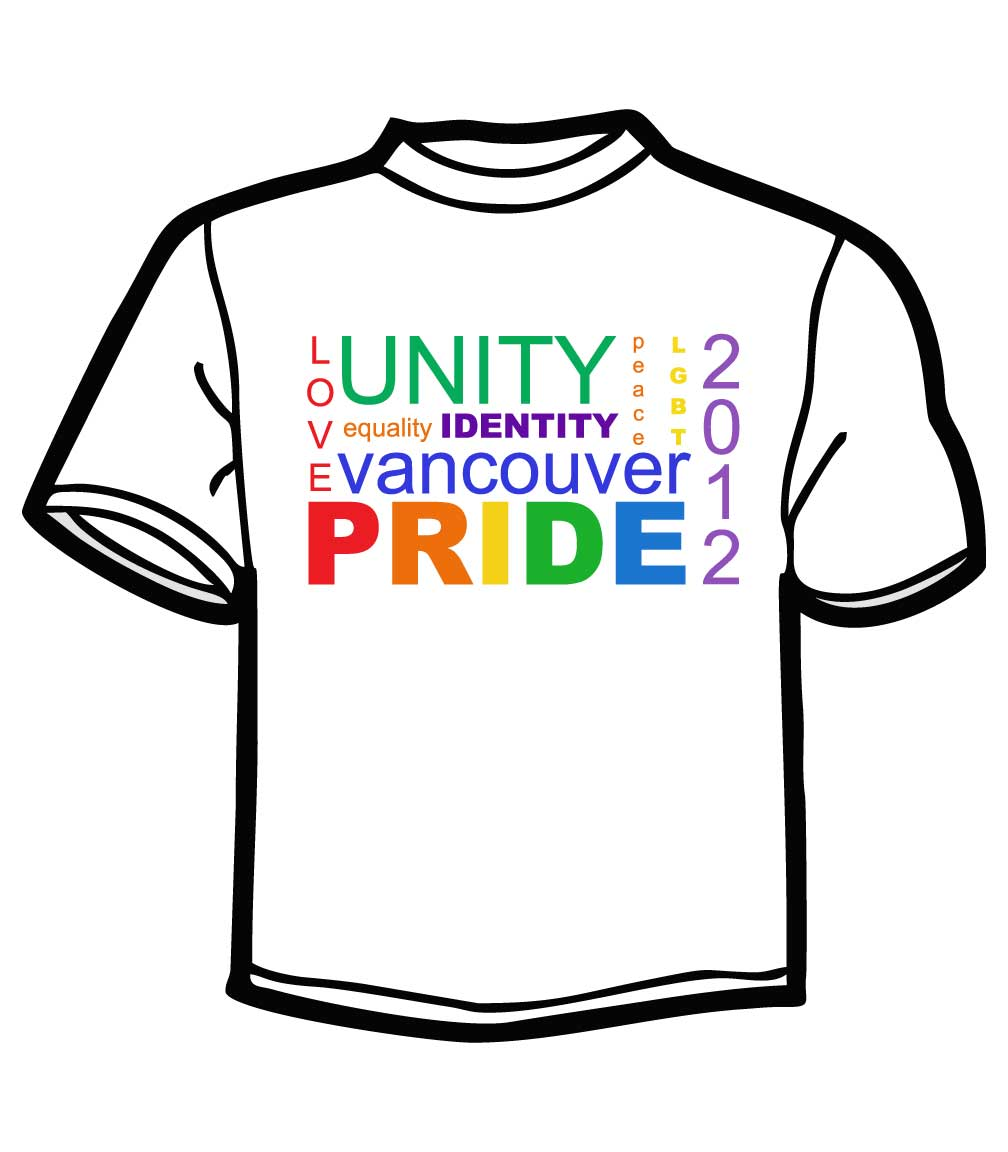 Vancouver Pride 2012 T-shirts Digitally printed at makevancouver.com