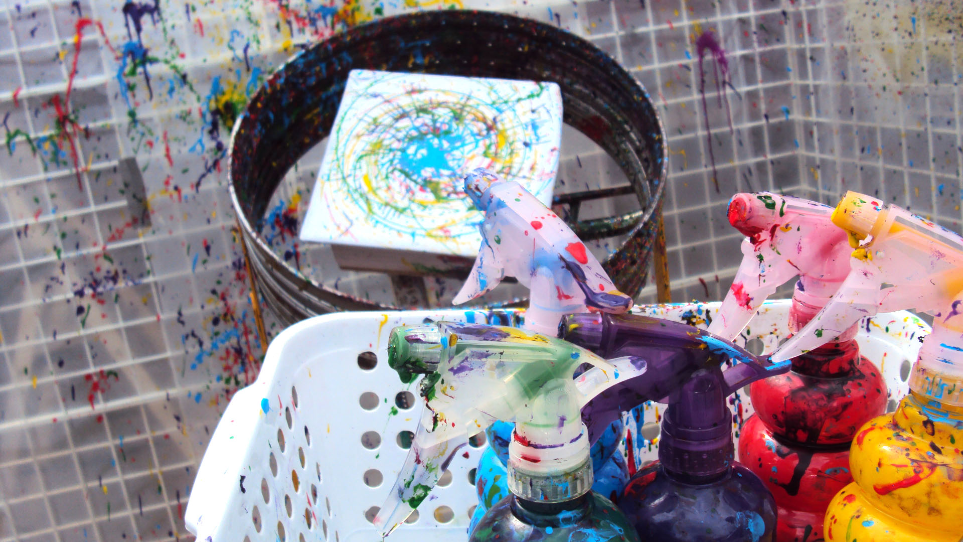See bicycle spin-art in action in the Vancouver International Children ...